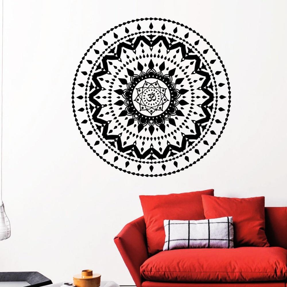 Analytisch Muursticker Mandala Yoga Oum Om Decal Boho Ontwerp Slaapkamer Interieur Vinyl Verwijderbare Waterdichte Hoge Kwaliteit Muurschildering Decals La684 Het Comfort Van Het Volk Aanpassen