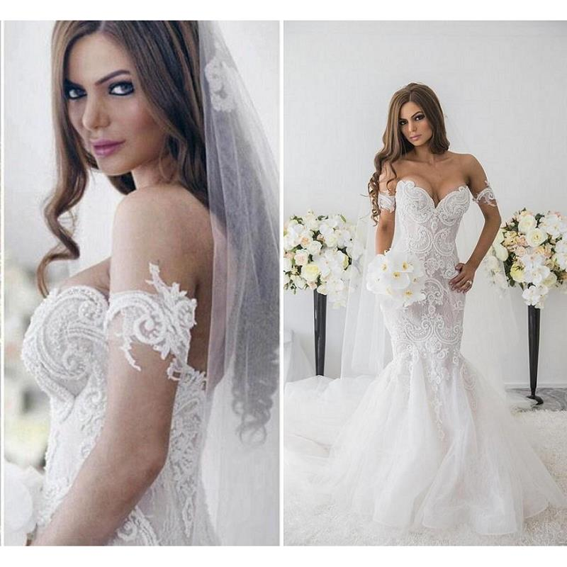 Romantic Modern Mermaid Lace Wedding Dresses 2020 Robe De Mariee Off The Shoulder Wedding Gowns Western Designer Bride Dress Aliexpress,Summer Dress For Wedding Guest Plus Size