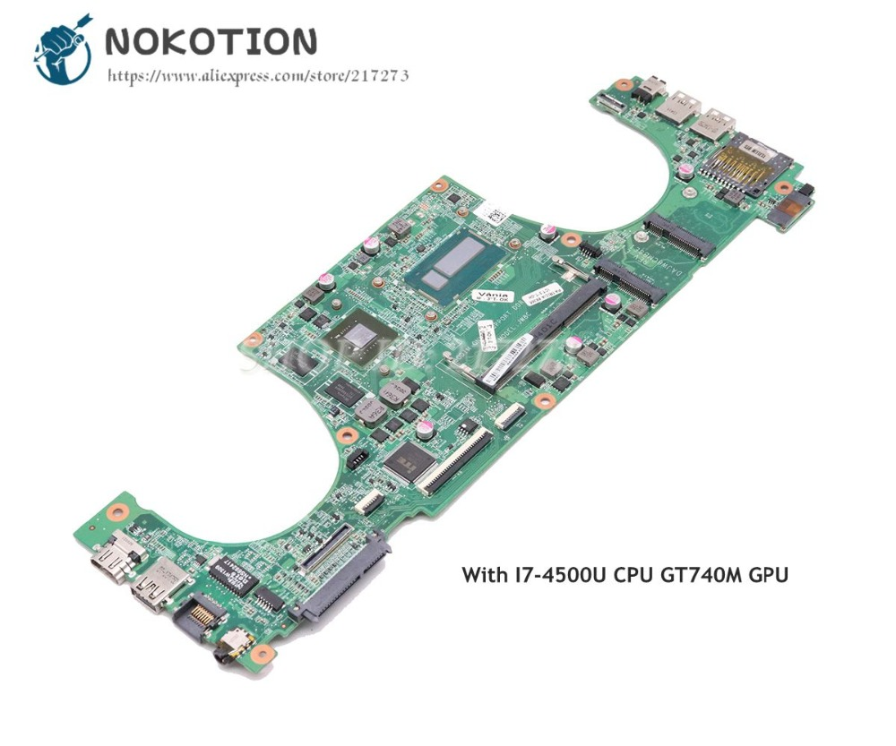 NOKOTION DAJW8CMB8E1 CN-0K0PF0 0K0PF0 For Dell Vostro 5470 Laptop Motherboard SR16Z I7-4500U CPU GT740M GPUNOKOTION DAJW8CMB8E1 CN-0K0PF0 0K0PF0 For Dell Vostro 5470 Laptop Motherboard SR16Z I7-4500U CPU GT740M GPU