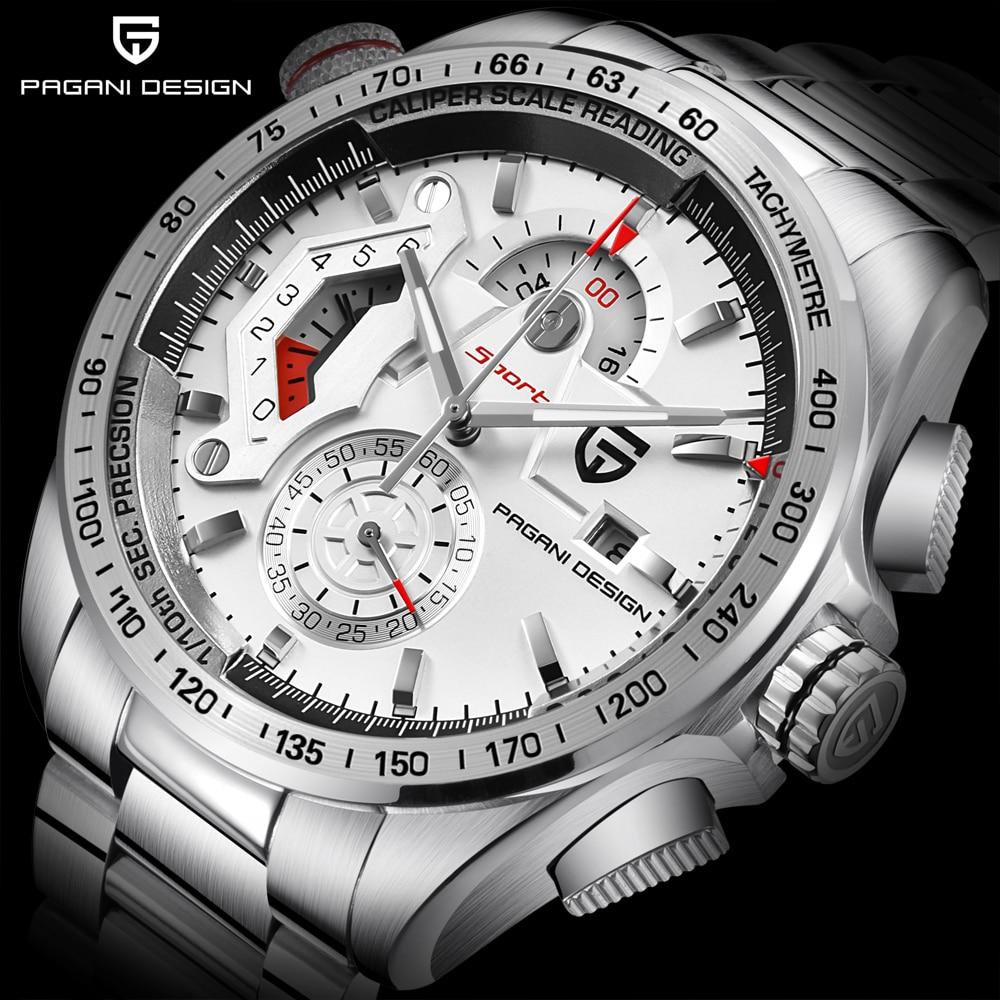 PAGANI DESIGN Luxury Military Chronograph Sport Watches Men Quartz Fashion Waterproof Big Dial Mens Business Gift Wrist Watch