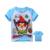 Miúdos dos desenhos animados t-shirt causal adorável com raiva pássaro bonito algodão camisa roupas de Verão tops t-shirt para 2-10yrs crianças estudante quente