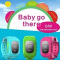2016 Smart Kid Safe GPS Reloj Localizador Q50 localizador Rastreador para Cabrito Del Niño Perdido Anti Del Monitor Del Bebé de Halloween regalo