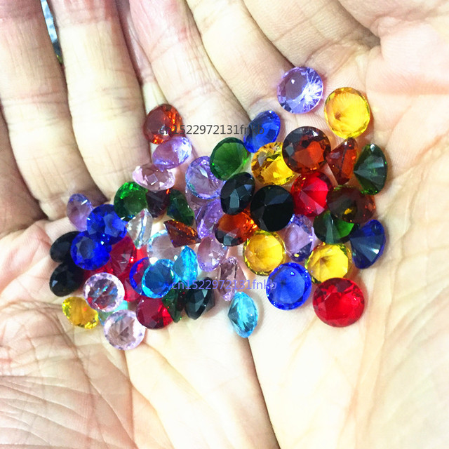 10MM 10pcs Dimeter Crystal Diamond Rainbow Glass Beads Feng Shui Sphere Crystals Decorative Craft Gift Wedding Home Vase Decor 3