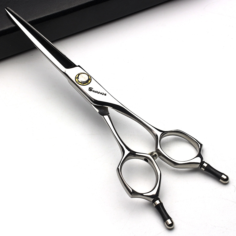 Купить с кэшбэком Professional hairdressing scissors for hair cutting 6.0 440c Japan steel Cutting&Thinning shear set barbearia berber makas