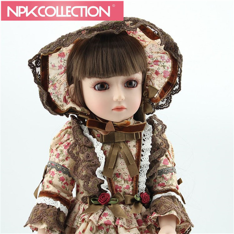 SD/BJD simulation beautiful princess doll girl toys 45CM uncle 1 3 1 4 1 6 doll accessories for bjd sd bjd eyelashes for doll 1 pair tx 03