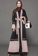 2018 Fashion Women Muslim Dress Cardigan Abaya Dubai Kaftan Plus Size 5XL  Middle East Turkish Lace Islamic Ropa Arabe Mujer be10004a4b47