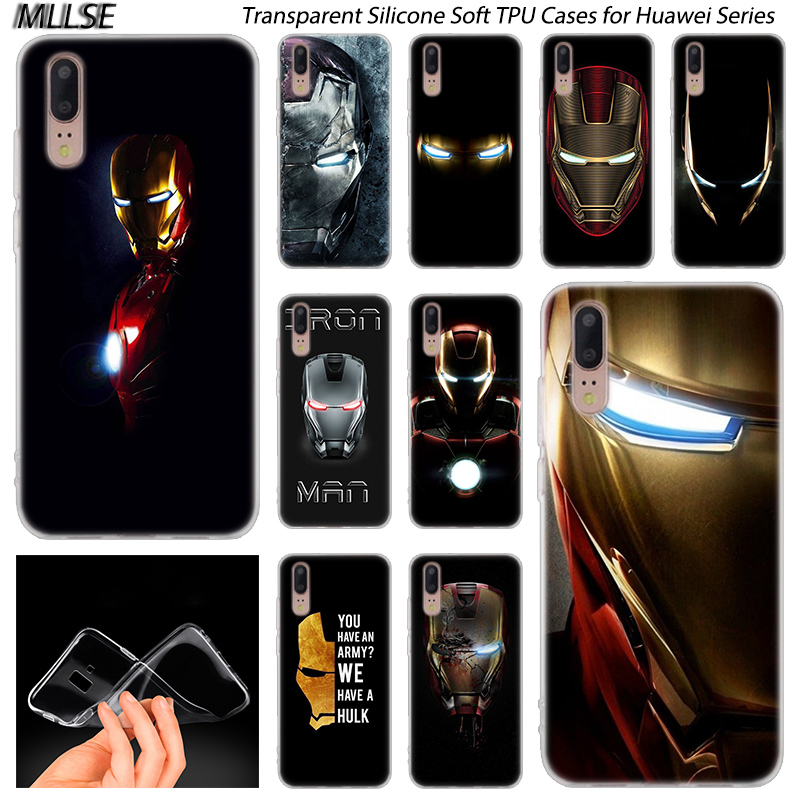 Hot <font><b>Marvel</b></font> Iron Man Soft Silicone Case for <font><b>Huawei</b></font> P30 P20 <font><b>P10</b></font> P9 P8 <font><b>Lite</b></font> 2017 P30 P20 Pro Mini P Smart 2019 Plus Fashion <font><b>Cover</b></font> image