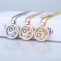 35mm Mi Moneda Coin Pendant Stainless Steel Locket Necklace Fit 33mm Coin Holder Woman Girl Fashion