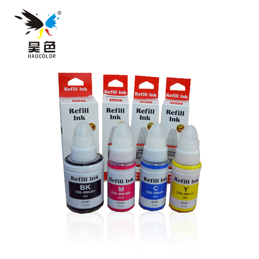 Gi 490 Dye Ink Refill Kit For Canon Pixma G1400 G2400 G3400 G1000 Print Head G2000 G3000 Color Original Compatible Bk Gi490 C M Y