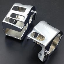 цена на For Yamaha V-Star 1100 Classic Silverado Switch Housing Covers Motorcycle Parts CHROME All years
