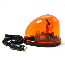 High Power Bulb Rotating Warning Beacon Emergency Light for 12V Police Ambulance Fire Truck with Magnetic Base high quality 12v 24v dc 120cm rotate emergency lightbar warning light bar for police ambulance fire waterproof