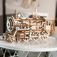 DIY Model Building Kits Laser Cutting 3D Wooden Mechanical Action by Clockwork Gift Toys for Children LK for Dropshipping