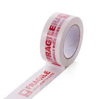100M Industry Fragile Adhesive Single Side Tape Red Warning Letter Packing Box Duct Papeleria School Stationery