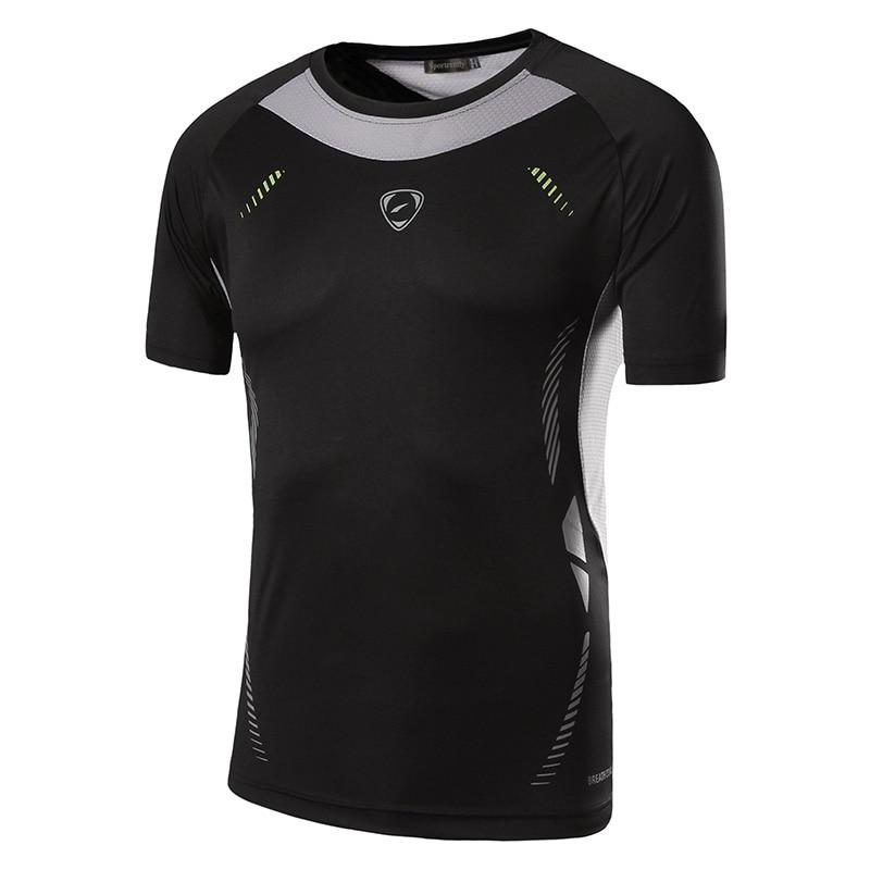Sportrendy Men's Summer Fitness manga corta camisetas Camisetas - Ropa de hombre