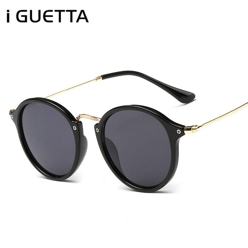 Qualified Iguetta Round Sunglasses For Women Personality Designer Sunglasses Women 2019 High Quality Driving Glasses For Men Uv400 Iyjb075 Soft And Light Women's Sunglasses