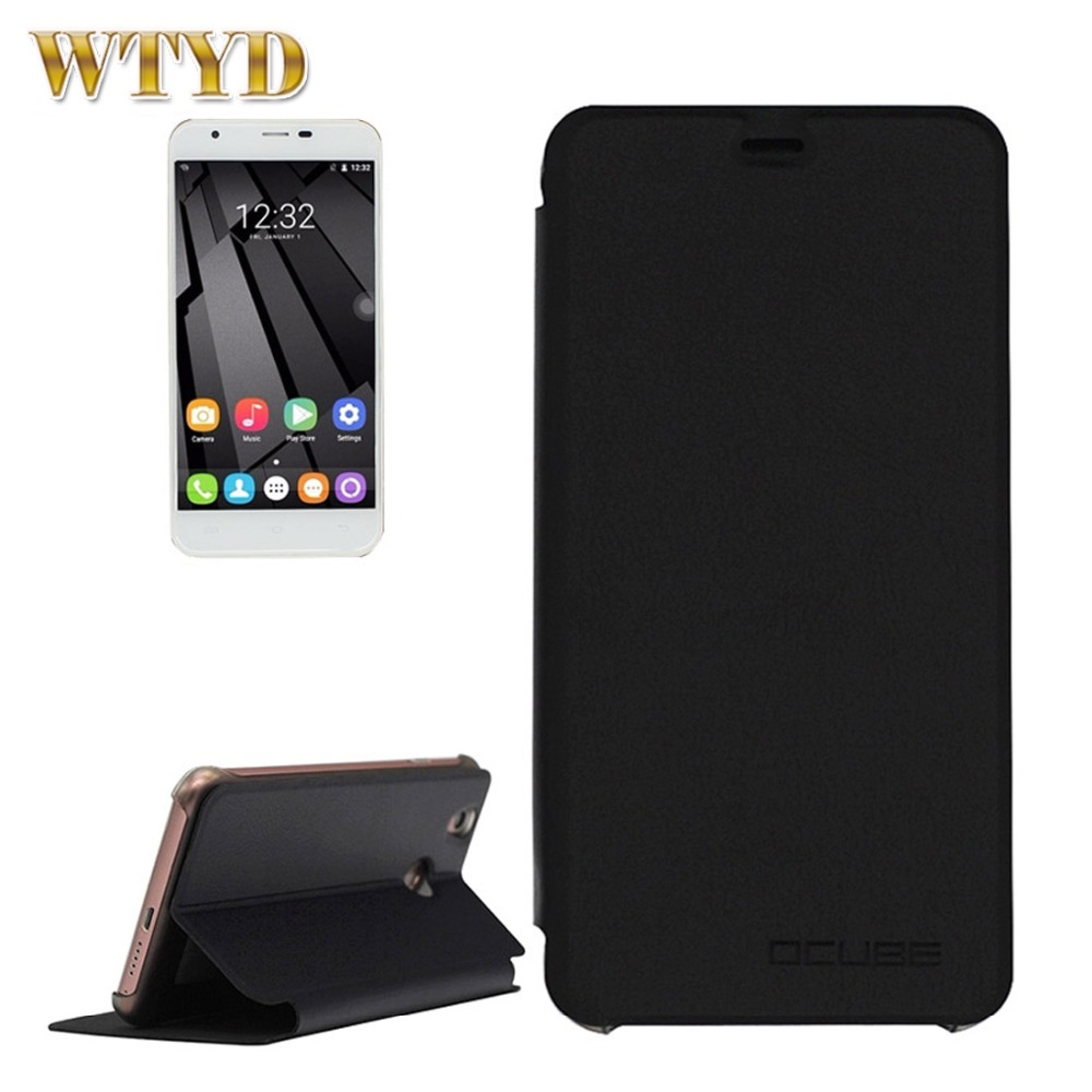 OUKITEL U7 Plus Case Cover Protector Shell Spring Texture Horizontal Flip Leather Case with Holder for Oukitel Smartphone