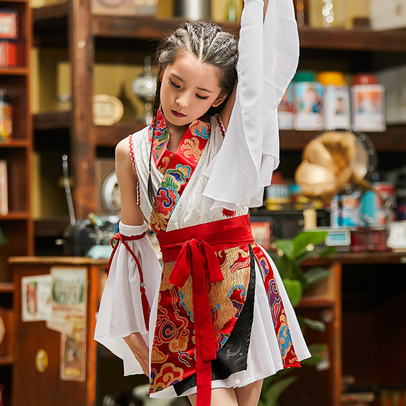 Girls Hip Hop Dance Costume Children Jazz Costumes Street Dance Clothing Fashion Chinese Style Stage Performance