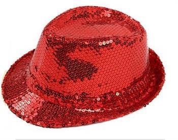 1b31b7e4078 Women lady Summer Paillette Glitter Fedora Cap Disco Gangster Beach Sun Hat