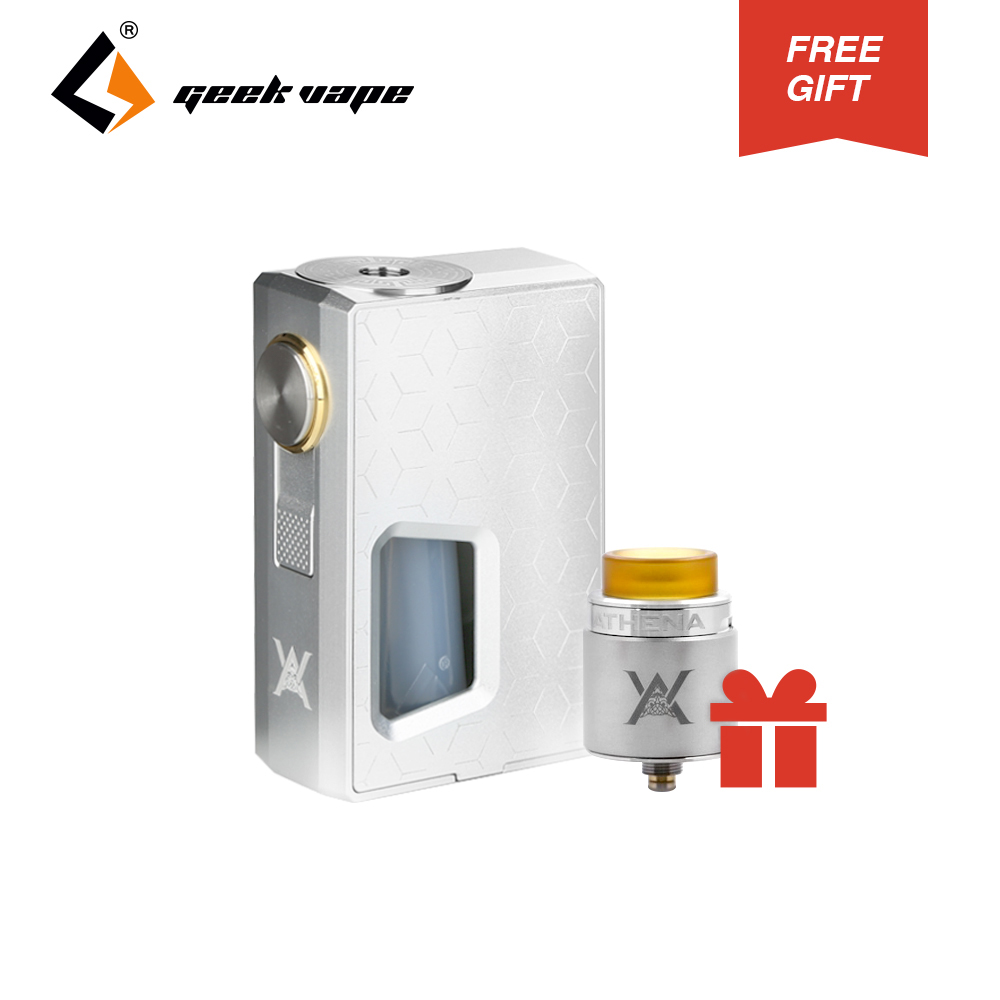 Original GeekVape Athena Squonk Vape Kit with 6.5ml Athena Squonk RDA (gift) Fit Both 810 & 510 Drip Tips No Battery E-cig Kit