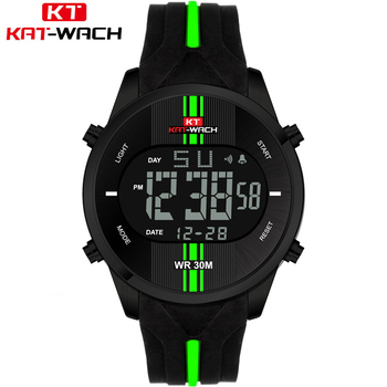 Mens Watches Top Brand Luxury Electronics Watch Men Style Military Army Shock Sport Wrist Watch LED Analog Digital Clock Saat image