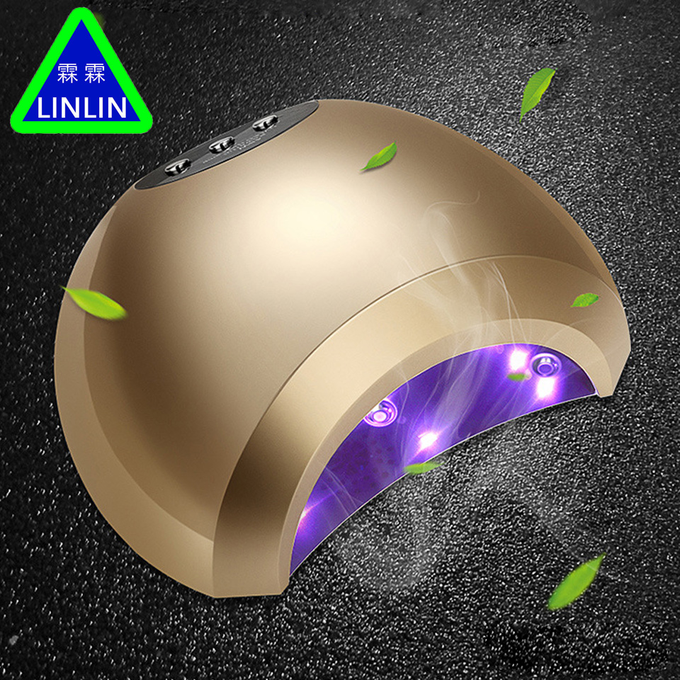 LINLIN Nail 48W intelligent induction double light phototherapy machine nail LED phototherapy baking lamp drying machine