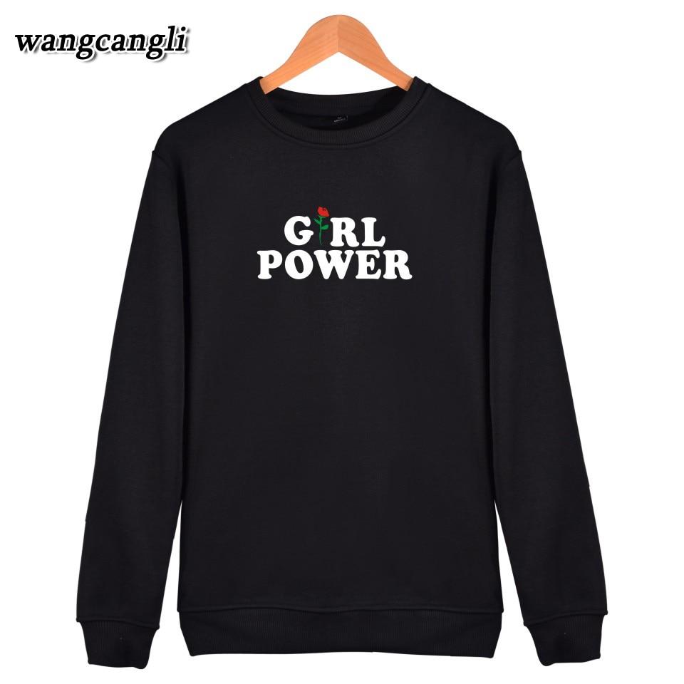 wangcangli O-Neck Hoodies women Brand Designer Girl Power Sweatshirt women in XXXL Hoodies and Sweatshirts xxs Girl Power hoodie