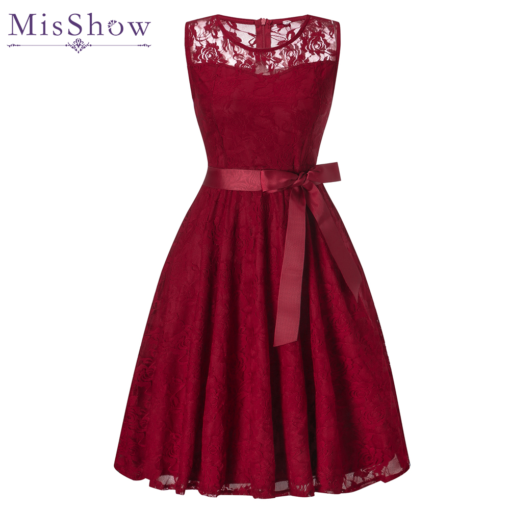 In Stock Burgundy Full Lace   Cocktail     Dresses   Sexy Short Homecoming   Dress   Formal   Dress   Little Black   Dress   Women Short Prom Gown