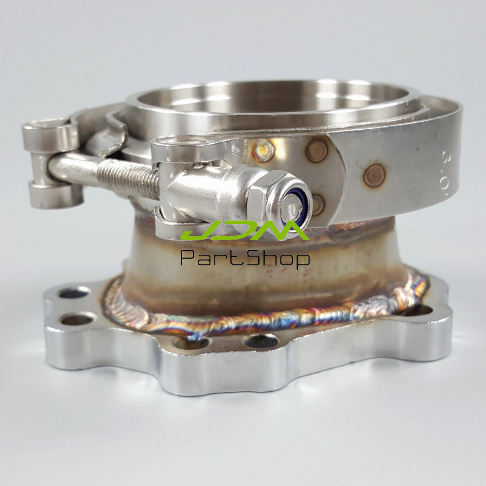T25 T28 GT25 GT28 GT25R GT28R 5 BOLT TO 3 V And Exhaust Manifold Adaptor 5 Bolt Garrett Adapter Flange to Down Pipe V Band Clamp