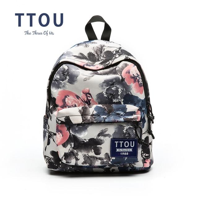 Ttou Design Ink Printing Backpack Ager S School Bag Women Travel