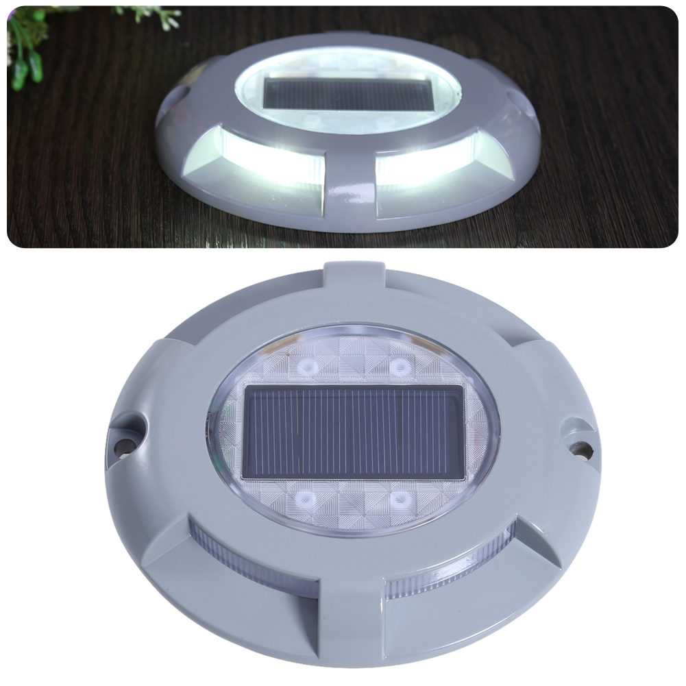New Solar Powered Road Stud Lighting Aluminum IP65 Waterproof Outdoor Road Driveway Dock Path Solar Ground Light Lamp