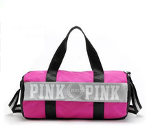 ef5b6daf0f5a 2018 Fashion girl stripe duffle bag pink Victoria beach shoulder bag large  capacity secret Overnight weekender vs travel bag