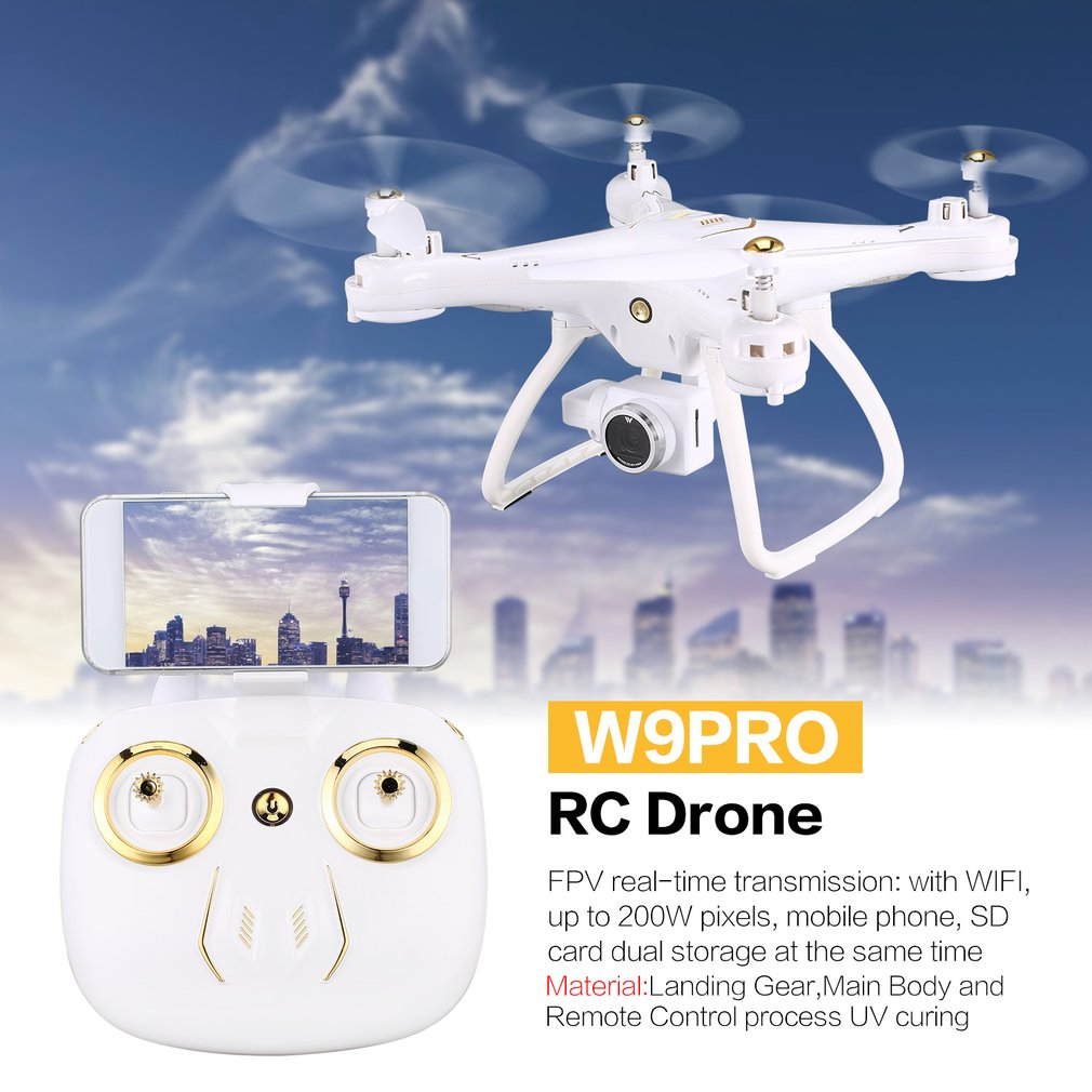 Attop W9PRO 4G Wifi GPS 720P/1080P FPV Camera Real-time Transmission RC Drone Quadcopter With Headless Mode Altitude HoldAttop W9PRO 4G Wifi GPS 720P/1080P FPV Camera Real-time Transmission RC Drone Quadcopter With Headless Mode Altitude Hold