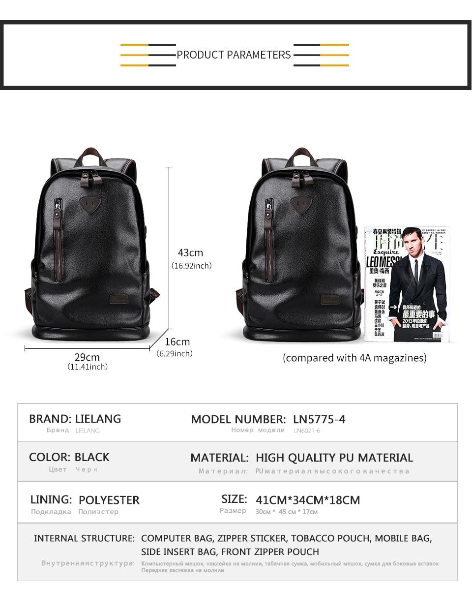 prova dwaterproof água mochila para homens moda casual saco escolar e1027