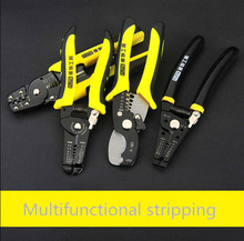 "Multi Tool 8""Wire Stripper Cable Cutting Scissor Stripping Pliers 7""wire strippers Manual crimping pliers Tools(China)"