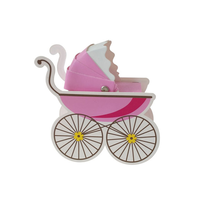 5pcs Paper Candy Box Stroller Shape Baby Shower Favors Kids Birthday Party Wedding Gifts Baby Shower Decor Supplies Gift Bags