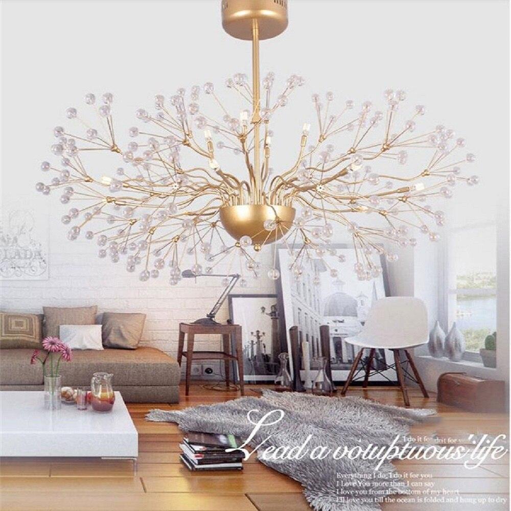 110V 220V Modern Golden  Glass LED Chandelier Light Fixture Lustre Hotel Project restaurant industrial hanging lamp fixture тумба с раковиной smile гранда 75 белый z0000009967 qdr75slwb01