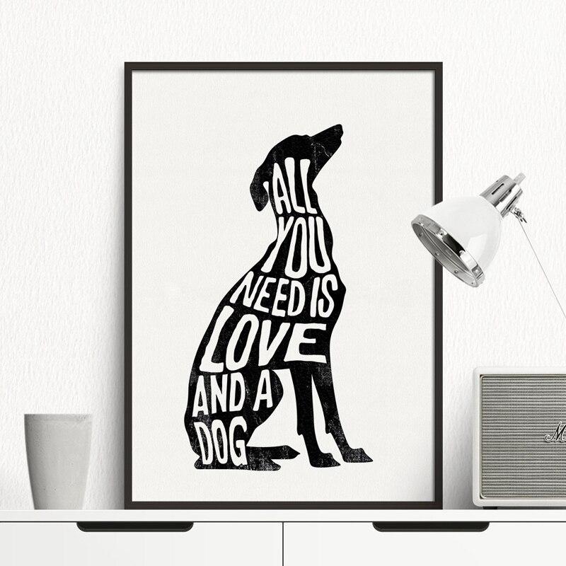 Italian Greyhound Greyhound Poster Dog Minimal, Wall Art Print ...