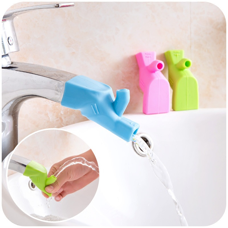 Stouge 1PC High Elastic Silicone Water Tap Extension Faucet Extenders Dual Use Water Faucet Tool Kitchen Bathroom Accessories