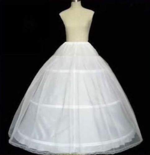 Hot Sale 3 Hoop Ball Gown Petticoats for Wedding Dress Bridal Tulle Under Skirt Hoop Online One Size