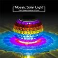 Nuevo Diseño 2016 Sostenedor De Vela Del Mosaico Del Arco Iris Powed por Energía Solar Gradiente de colores Frascos de Sol Llevó la Luz de Noche para Fiestas y Eventos venta al por mayor