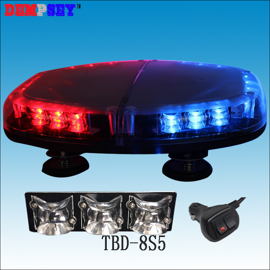 TBD-8S5 High Quality LED Mini Lightbar, DC12V Car Flashing Warning Light,New Len, Emergency Police Light,cigar Light Switch