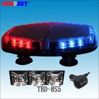 TBD 8S5 High quality LED mini lightbar, DC12V Car Flashing warning light,New Len, emergency police light,cigar light switch