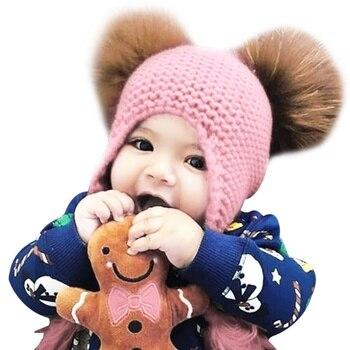 0963815e8 Niño niños chica sombrero bebé invierno cálido ganchillo Beanie gorra bebé  gorras sombreros para niñas niños sombrero