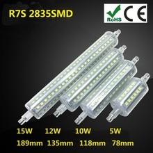 Lampe LED R7S en Silicone, Ampoule LED AC 220V AC 110V, 5W 10W 12W 15W 2835 SMD, Ampoule remplaçable pour halogène bomblas 360
