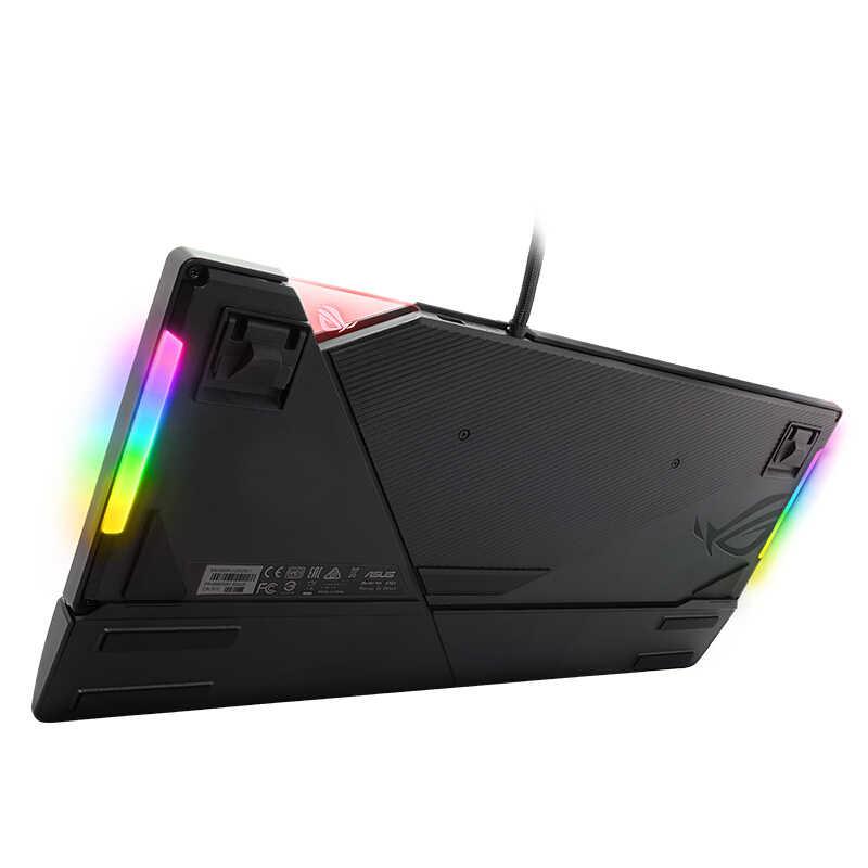 Механическая игровая клавиатура ROG strix Flash RGB с переключатели Cherry MX, настраиваемый значок с подсветкой и специальные медиаклавиши