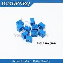 100Pcs/Lot 3362P-1-103LF 3362P 103 10K ohm Trimpot Trimmer Potentiometer Variable resistor new original