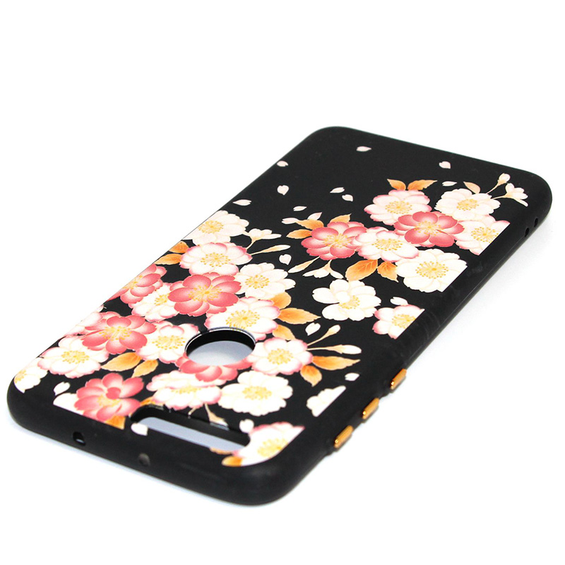 3D Relief flower silicone case huawei honor 8 (35)