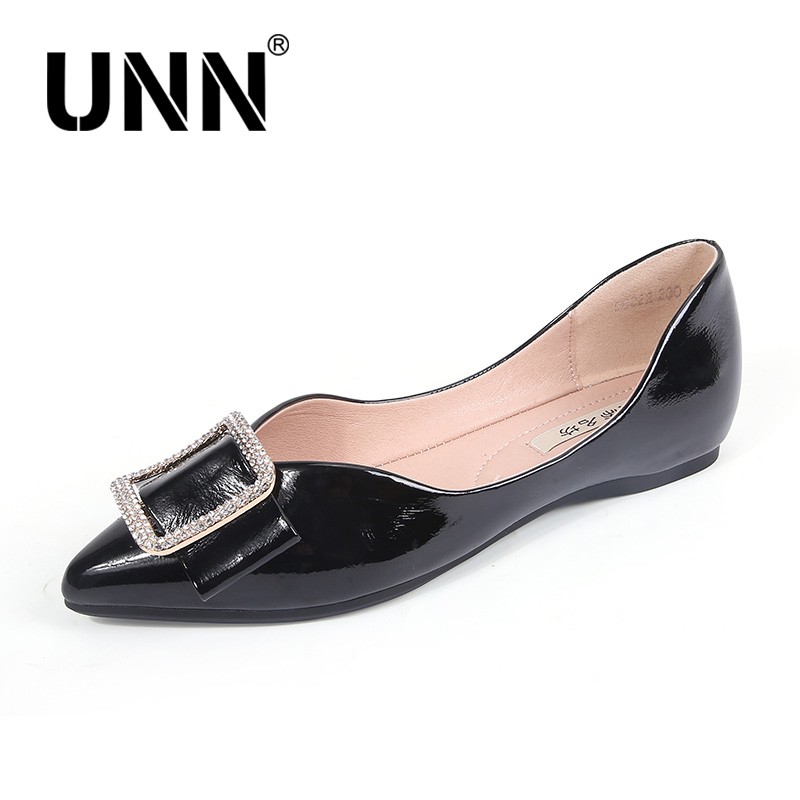 Women Flats Black White Women Wide Loafers Metal buttonSpring Autumn Flat Shoes Lady Zapatos Mujer Summer Shoes Size 35 39