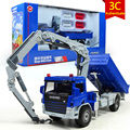 KAIDIWEI 1:50 Alloy Glide Construction Vehicles Atego With Crane Car Truck Model Baby Educational Toys Gift