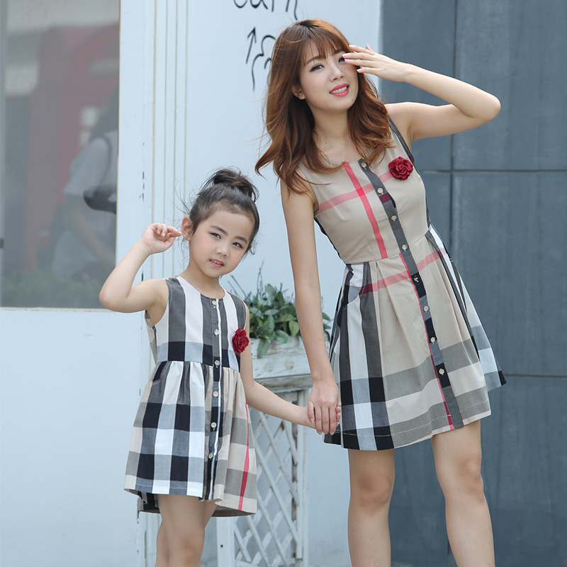 Family matching mother daughter mommy and me clothes family look korean fashion clothing wear girls women summer dress outfits 1 2017 summer children clothing mother and daughter clothes xl xxl lady women infant kids mom girls family matching casual pajamas